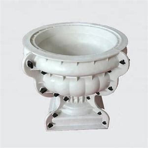 decorative plastic precast concrete flower pot planter molds for sale