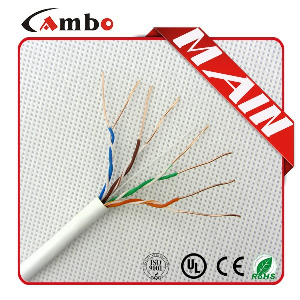 Made In China 24awg 0.50mm BC OR cca Cat5E Premade Cable Networking