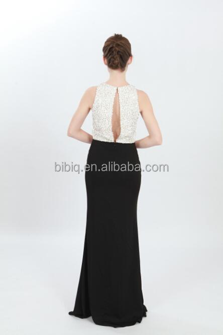 60166b6d Hot Sale Sequin Designer One Piece Young Girls Long Party Wear Dresses