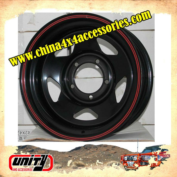 China 4x4 manufacturer Forging Technology 4WD Steel Wheel Rim for sale