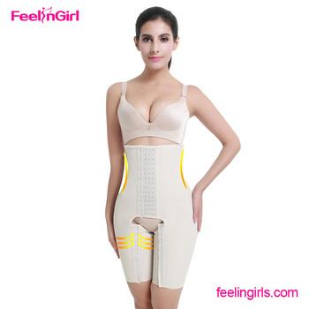 2cfcb46dcd6 FeelinGirl Women Slim Body Shaper Suit Strapless Shapewear With Open Crotch