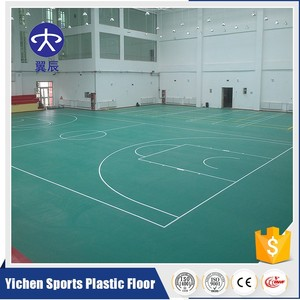 Shock absorption PVC plastic sport flooring for basketball center