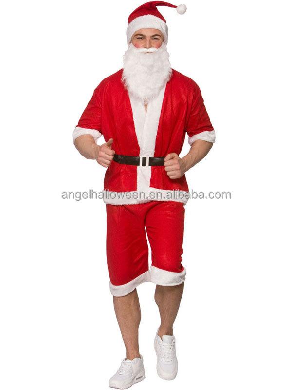 Mens Santa Claus Fancy Dress Costume 7 Piece Adult Father Christmas Santa Suit