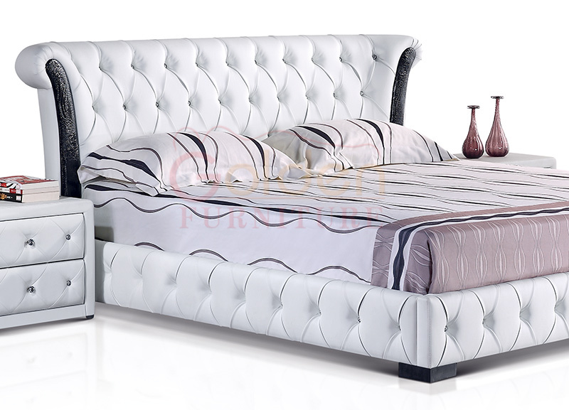 2016 latest design queen size pu double bed g1051 buy for Latest double bed designs 2016
