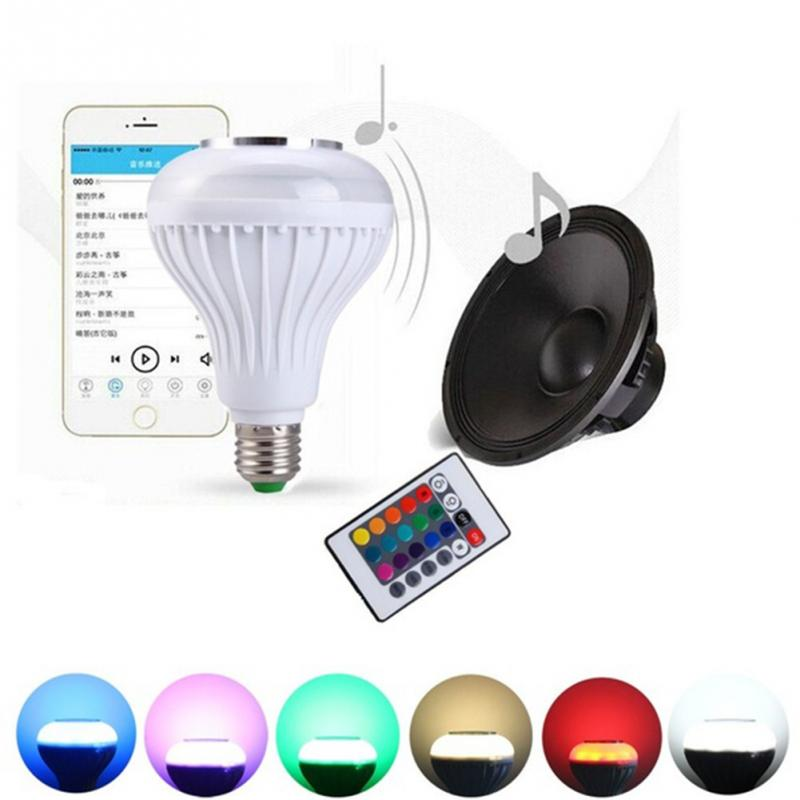 Amazon top seller 2018 led speaker bulb bluetooth speaker