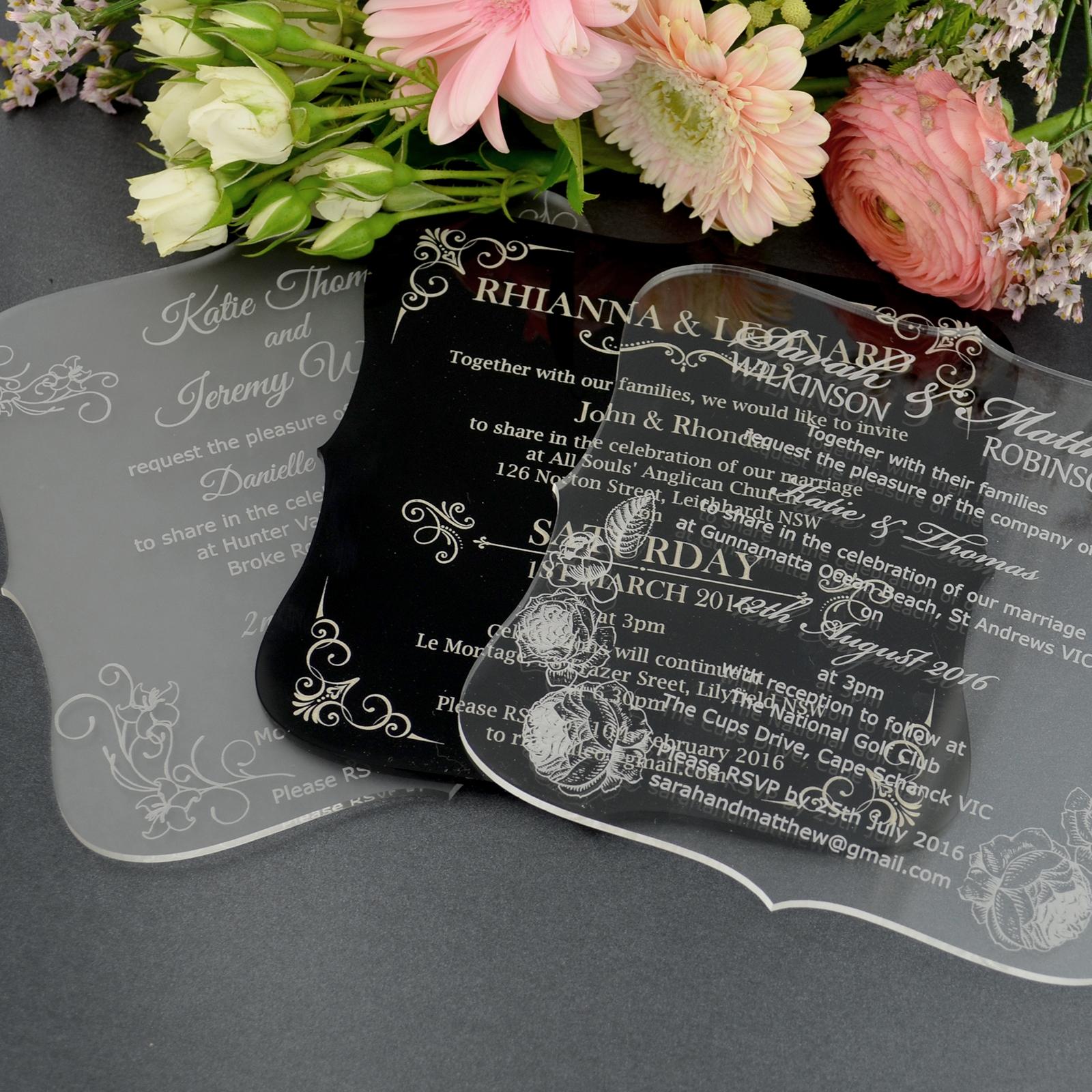 Wholesale Customized Elegant Acrylic Wedding Invitation Cards Buy