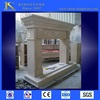 Cheap Chinese white marble fireplace with statues buyer price