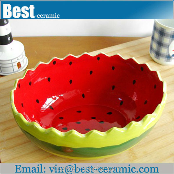 Painting Fruit Design Ceramic Watermelon Bowl - Buy Ceramic ...