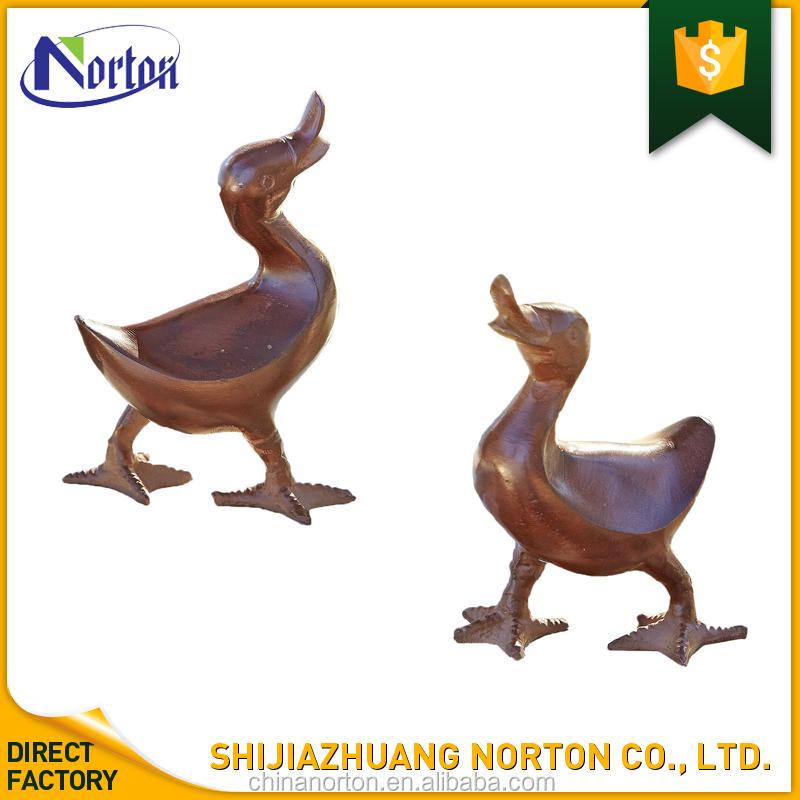 Hot Sale Garden Decoration Custom Bronze Duck Statues For Sale NT BS248K