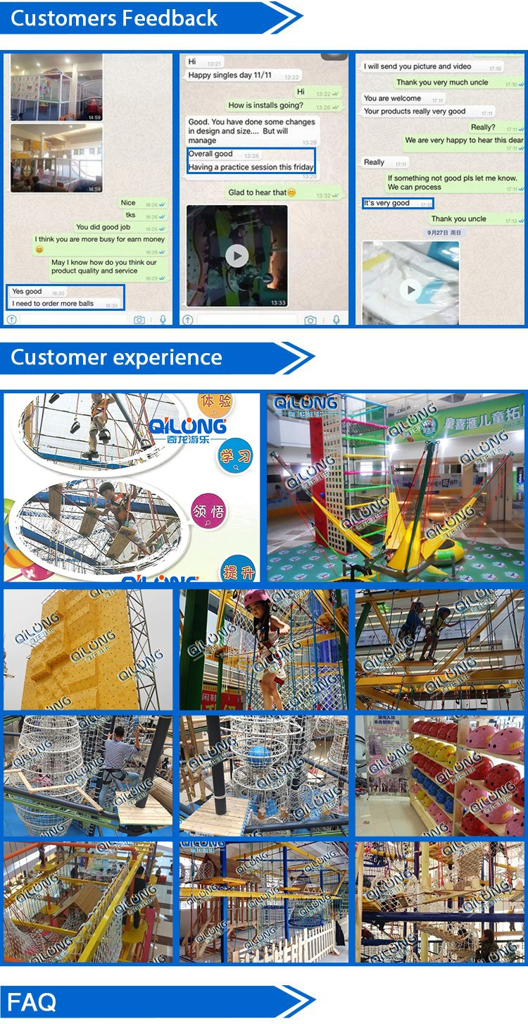 Professional obstacle course playground adventure playground rope course adventure park