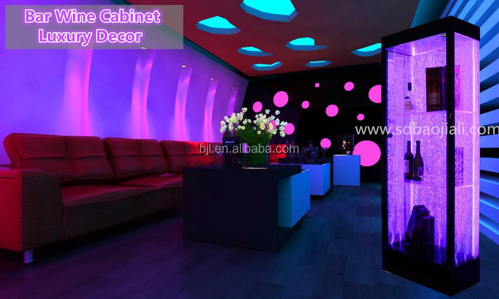 Led Wine Cabinet / Bar Cabinet For Nightclub Bar Design Ideas In ...