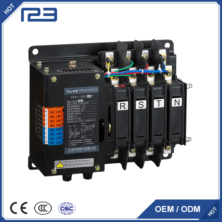 50/60HZ suppliers of automatic transfer switch with isolator switch 3 phase