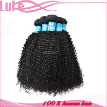 Natural Color Cheap Malaysian Remy Kinky Curly Human Hair Weft