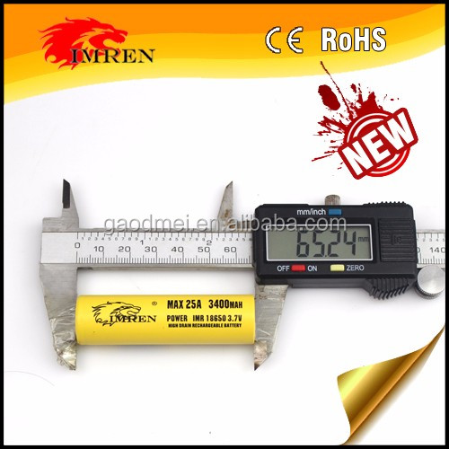 Yellow IMREN 3000MAH max 35a 3.7V 18650 Rechargeable battery lithium ion shenzhen gaodmei technology co,.ltd