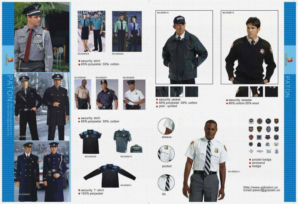 Security guard cop uniform office formal security guard clothing