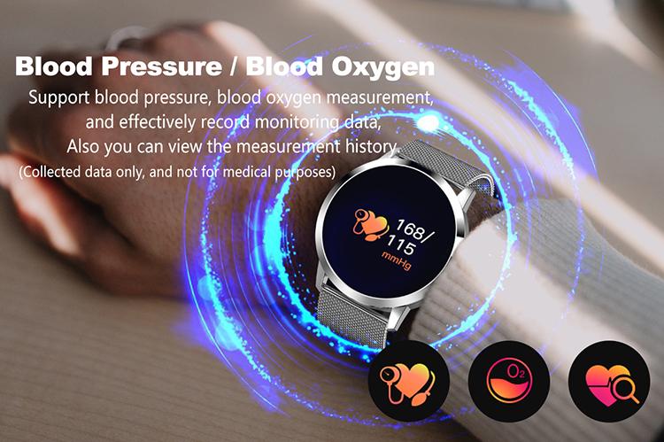 Venta caliente rastreador de actividad Salud pulsera monitor de ritmo cardíaco reloj de fitness inteligente banda Q8
