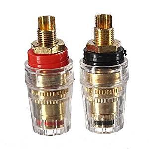 Pink Lizard 2Pcs Amplifier Speaker Cable Terminal Binding Post