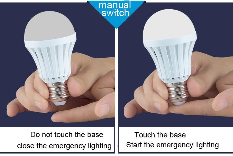 Automatic Ac/dc Rechargeable Lamp 5w 7w 9w 12w Led Emergency Light ...
