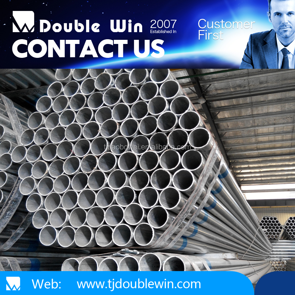 hot galvanized pipe/tube4 inch /rope