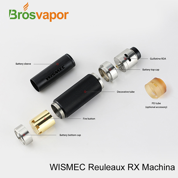 No 1 seller WISMEC Reuleaux RX MaChina+Guillotine RDA kit Four Fashion Colors
