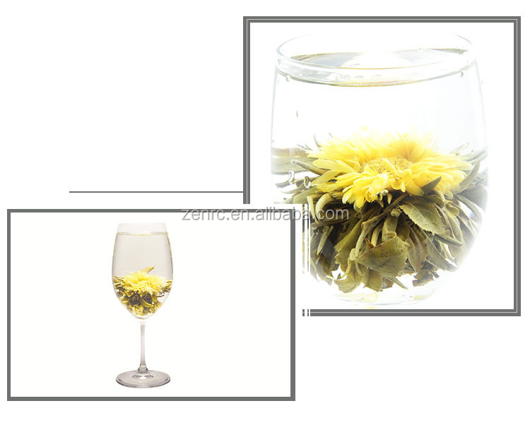 Health Chinese Green Tea Flavored Flowering Blooming Tea