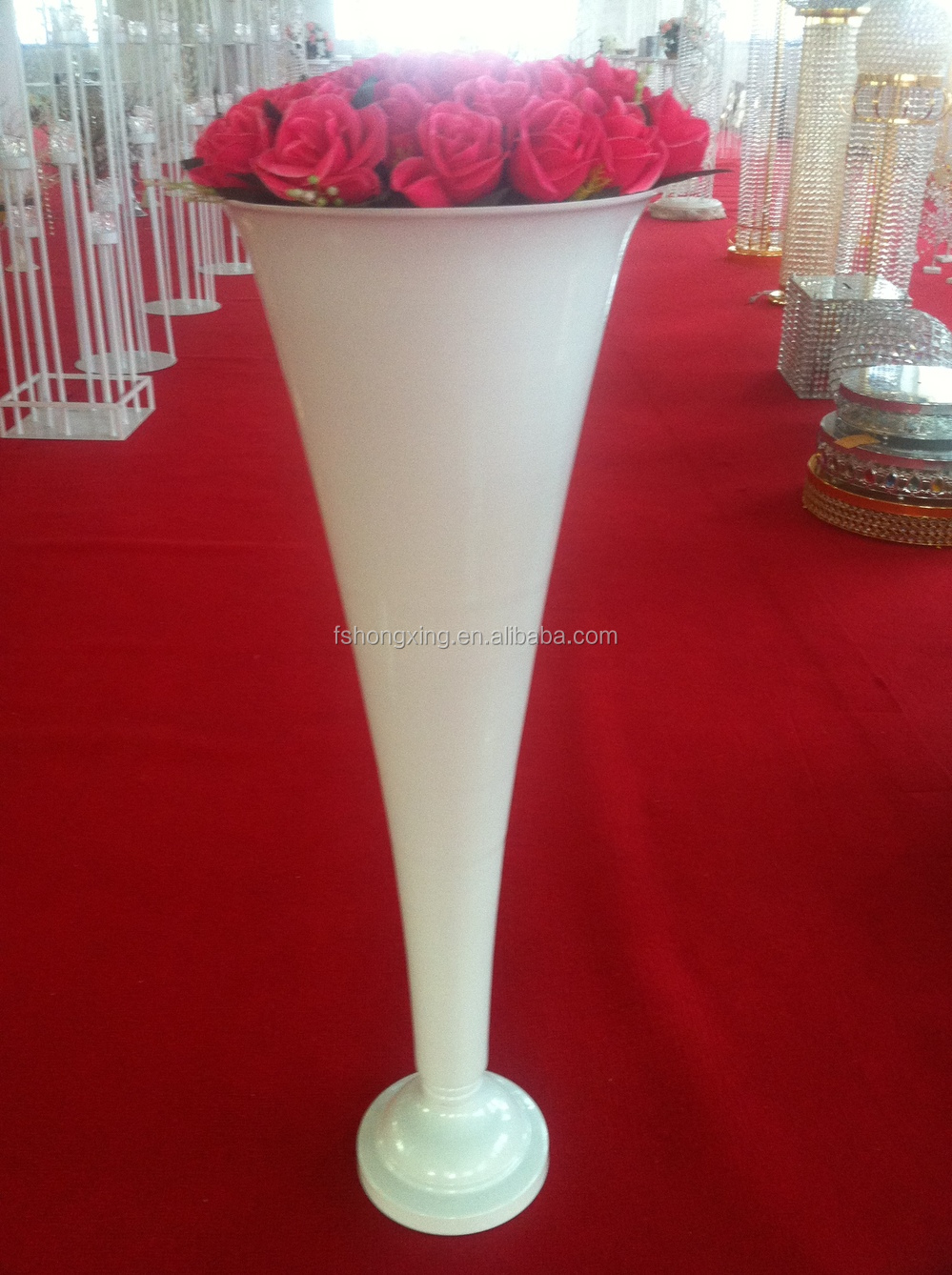 Crystal Tall Flower Stand Flower Vase Roman Pillar For Wedding Table Decortion Buy Crystal