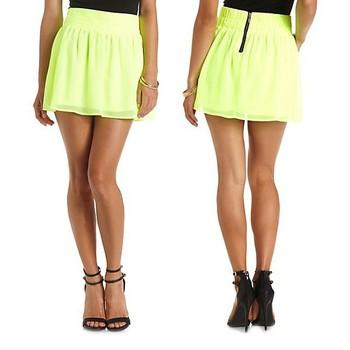 No panties girl mini skirt
