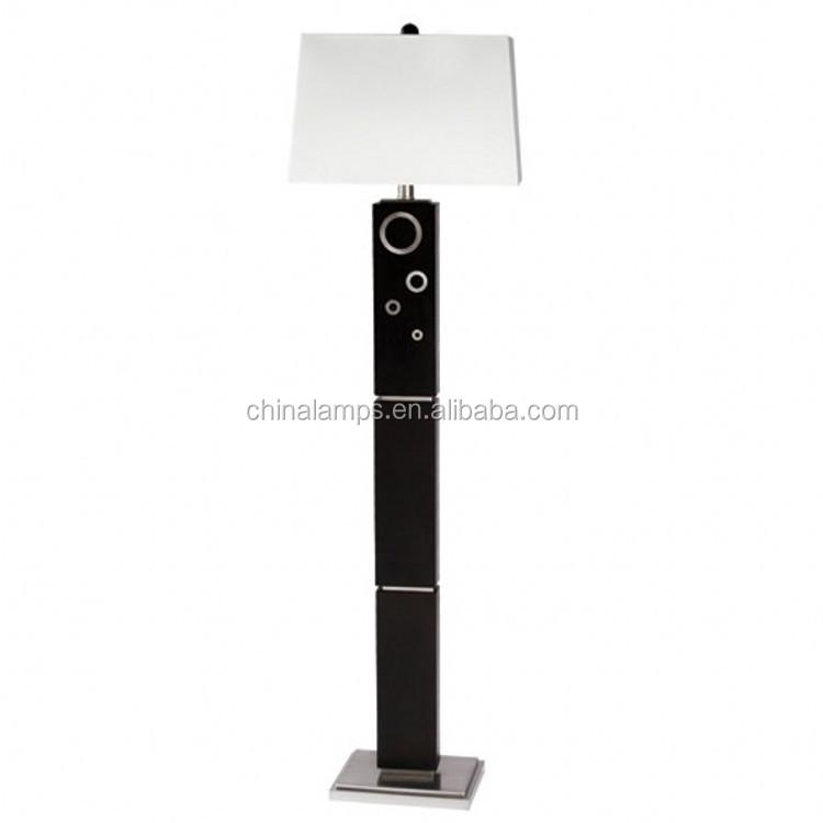 Indoor Floor Standing Lamp,Square Wooden Floor Lamp With Square ...