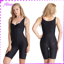 Soft material black v neck full body shaper slimming vest for women
