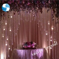 Beautiful event decoration wedding backdrop crystal curtains