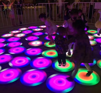 2018 New products circle LED round interactive dance floor with cheap price