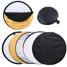 Free Shipping 22 inch 56cm 5 in 1 Portable Collapsible Light Round Photography Reflector for Studio Multi Photo Disc