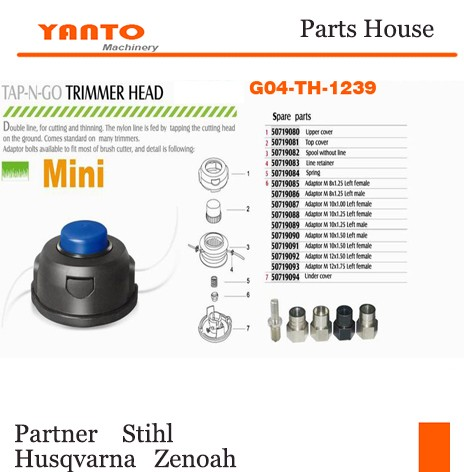 G04-th-1216 Speed Feed & Easy Load Nylon Line Line Trimmer Bump Head  (universal Fitting - Buy Grass Trimmer Head,Garden Line Trimmer Head,Brush  Cutter