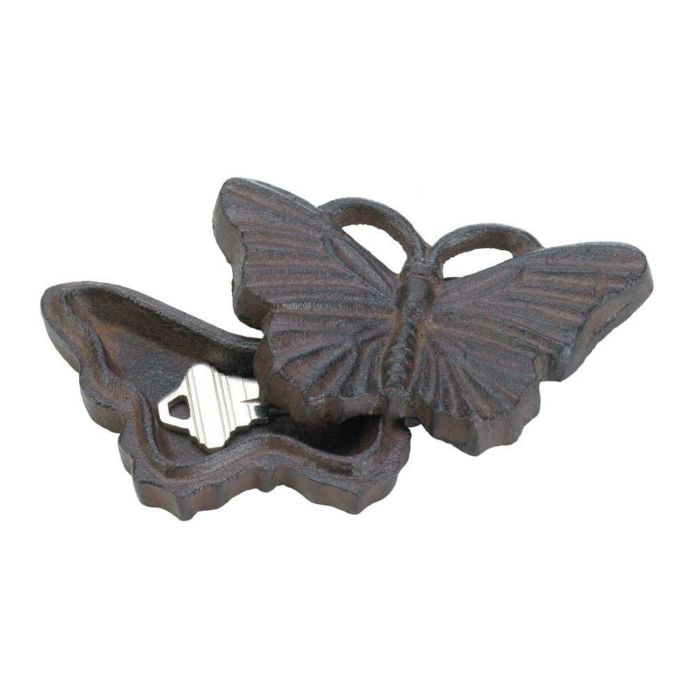 Summerfield Terrace Outdoor Key Hider, Butterfly Box for House Spare Car Keys Hider, Cast Iron (Sold by Case, Pack of 24)