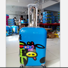 2561eacab hot sale China Baigou trolley luggage smooth 2pcs printed cow children  travel suitcase 4 spinner wheels luggage case