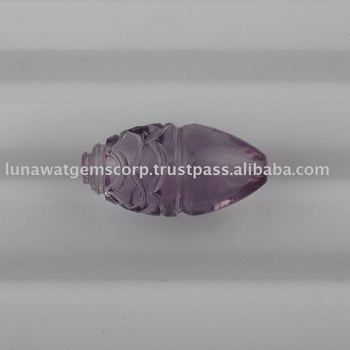 Pink Amethyst Medium Dhholki With Carving 14x7mm LF004 PA