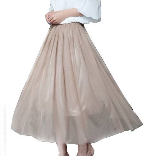 89eae09e9 Get Quotations · Summer Style Women's Skirt Bohemian Elegant Organza  Fashion Elastic Waist Pleated Skirts Women Clothing White Pink