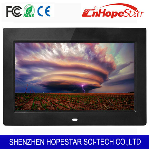 Ultrathin 8 inch 1024*600 HD LCD Battery Operated Digital Photo Picture Frame