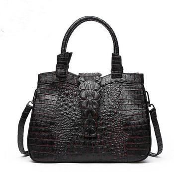 Women Bag 2017 Handbags Famous Brands Luxury Designer Handbag High Quality Crocodile Leather Tote