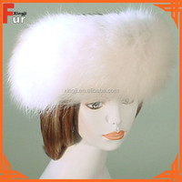 Natural White Fox Fur Headband