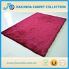 anti slip 100% polyester silk mix elastic plain 1200D/300D throw shaggy rugs