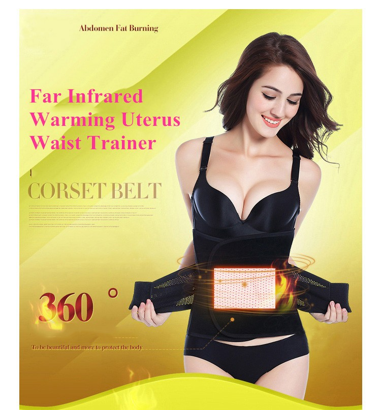 Far Infrared Warming Uterus Women Waist Trainer Keep Warm Postpartum Corset Belt