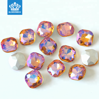 ce91b890fd 14mm Topaz Ab Color Fancy Cushion Cut Square Glass Crystal Stones Loose  Pointed Back Rhinestones - Buy Loose Pointed Back Rhinestones,Point Back  Glass ...