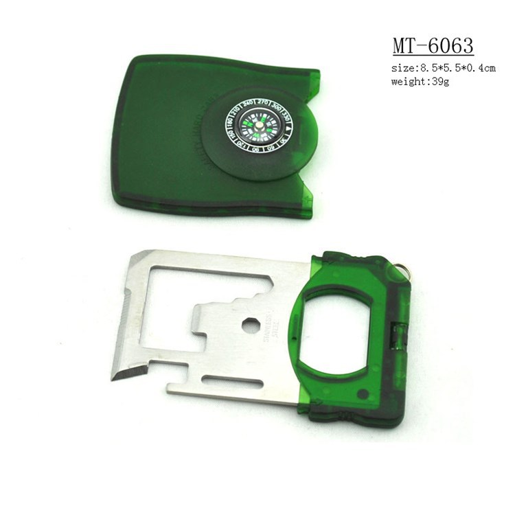 Outdoor Hiking Multi Pocket Stainless Steel Survival Tool card