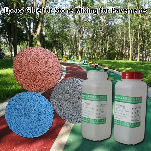 pegamento de resina epoxi para mezcla con piedras para el jardn pavimentos