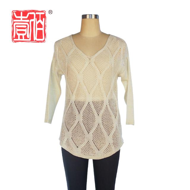 Promoción jersey de punto para mujeres, Compras online de jersey de ...