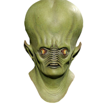 latex halloween mask wholesale alien ghost full head mask extraterrestrial prop