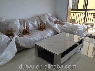Hot selling modern living room marble top steel base rectangle coffee table