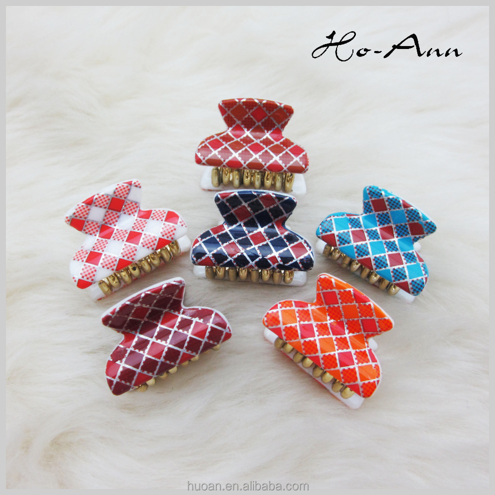 Fashion <strong>hair</strong> <strong>accessories</strong> colorful Design Acrylic <strong>Hair</strong> Claw Clip for women and girls
