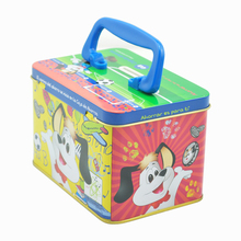 Custom metal tin lunch box with handle